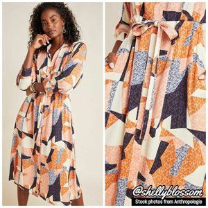 NWT Anthro Corey Lynn Calter Abstract Shirtdress